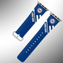 Load image into Gallery viewer, Cruz Azul Apple Watch Band 38 40 42 44 mm Series 1 2 3 4 Fabric Leather Strap 01