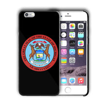 Load image into Gallery viewer, Michigan Great Seal Emblem Iphone 4 4s 5 5s 5c SE 6 6s 7 + Plus Case Cover 03