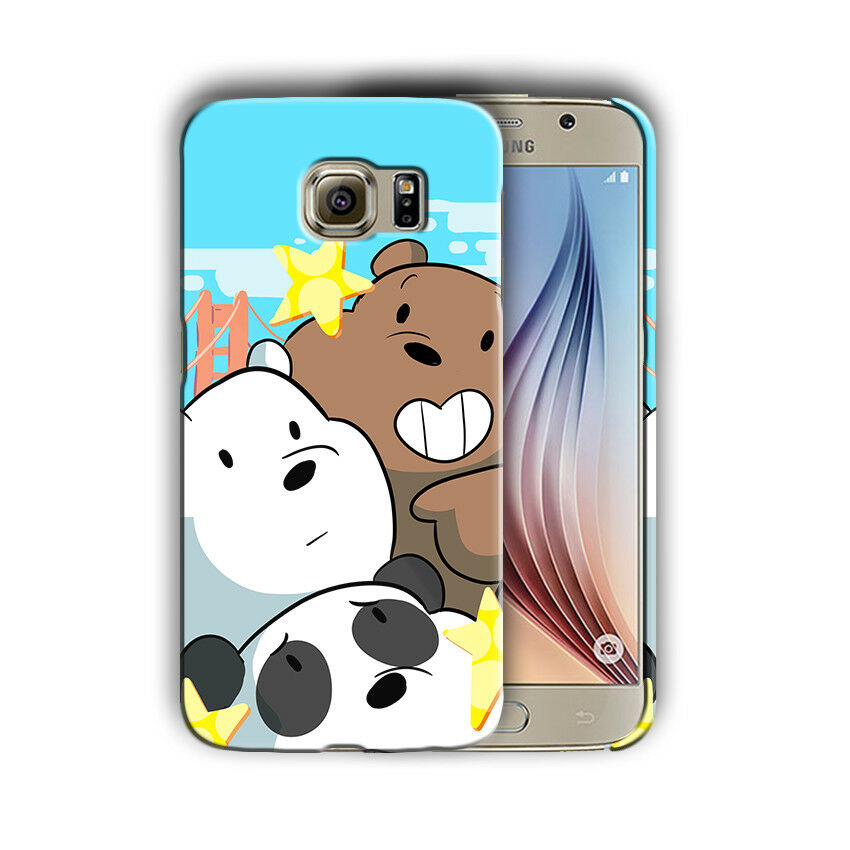We Bare Bears Samsung Galaxy S4 5 6 7 8 9 10 E Edge Note 3 4 5 8 9 Plus Case 09