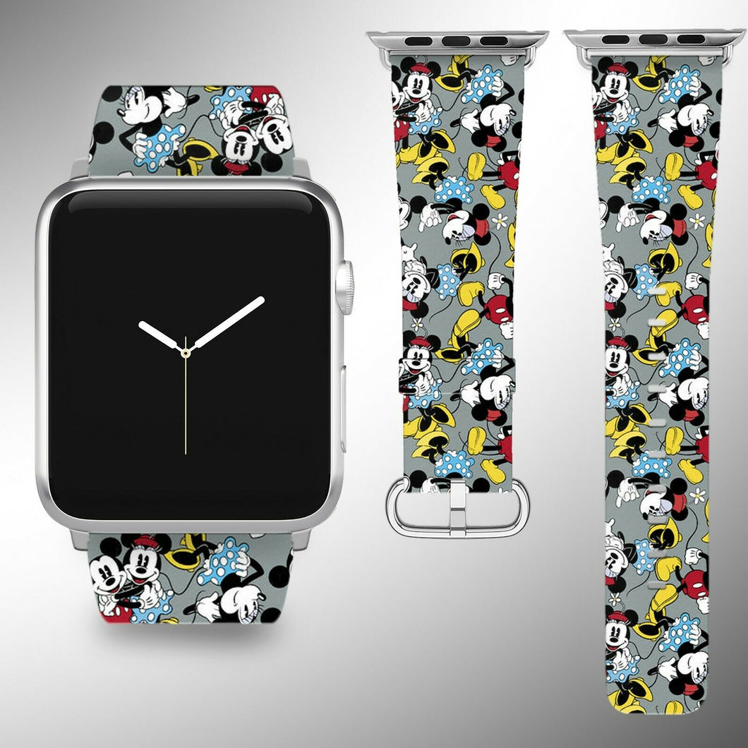 Mickey Minnie Mouse Apple Watch Band 38 40 42 44 mm Series 1 - 5 Wrist Strap 1