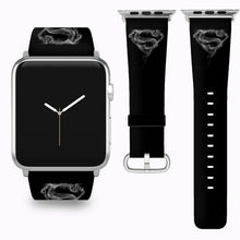 Load image into Gallery viewer, Superman Apple Watch Band 38 40 42 44 mm Series 5 1 2 3 4 Fabric Leather Strap 4