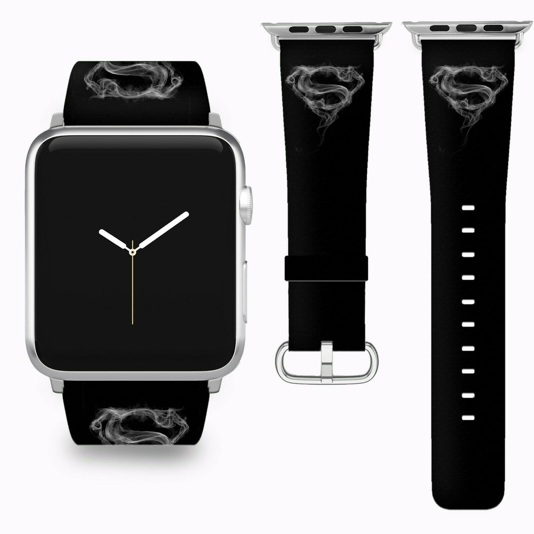 Superman Apple Watch Band 38 40 42 44 mm Series 5 1 2 3 4 Fabric Leather Strap 4