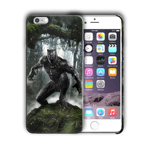 Super Hero Black Panther Iphone 4 4s 5 5s 5c SE 6s 7 8 X XS Max XR Plus Case  n8