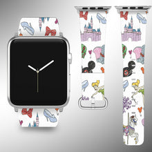 Load image into Gallery viewer, Cartoon Characters Apple Watch Band 38 40 42 44 mm Disney 1 2 3 4 Wrist Strap