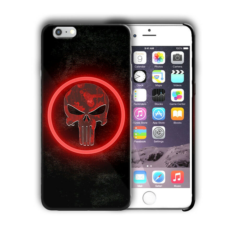 Super Hero Punisher Iphone 4s 5 5s SE 6 6s 7 8 X XS Max XR 11 Pro Plus Case n12