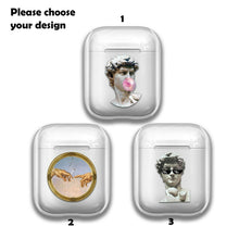 Load image into Gallery viewer, David Michelangelo Silicone Case for AirPods 1 2 3 Pro gel clear cover SN 169