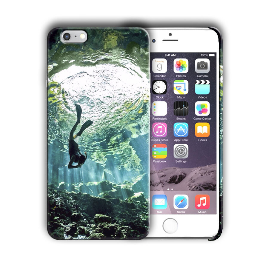 Extreme Sports Diving Iphone 4 4s 5 5s 5c SE 6 6s 7 + Plus Case Cover 10