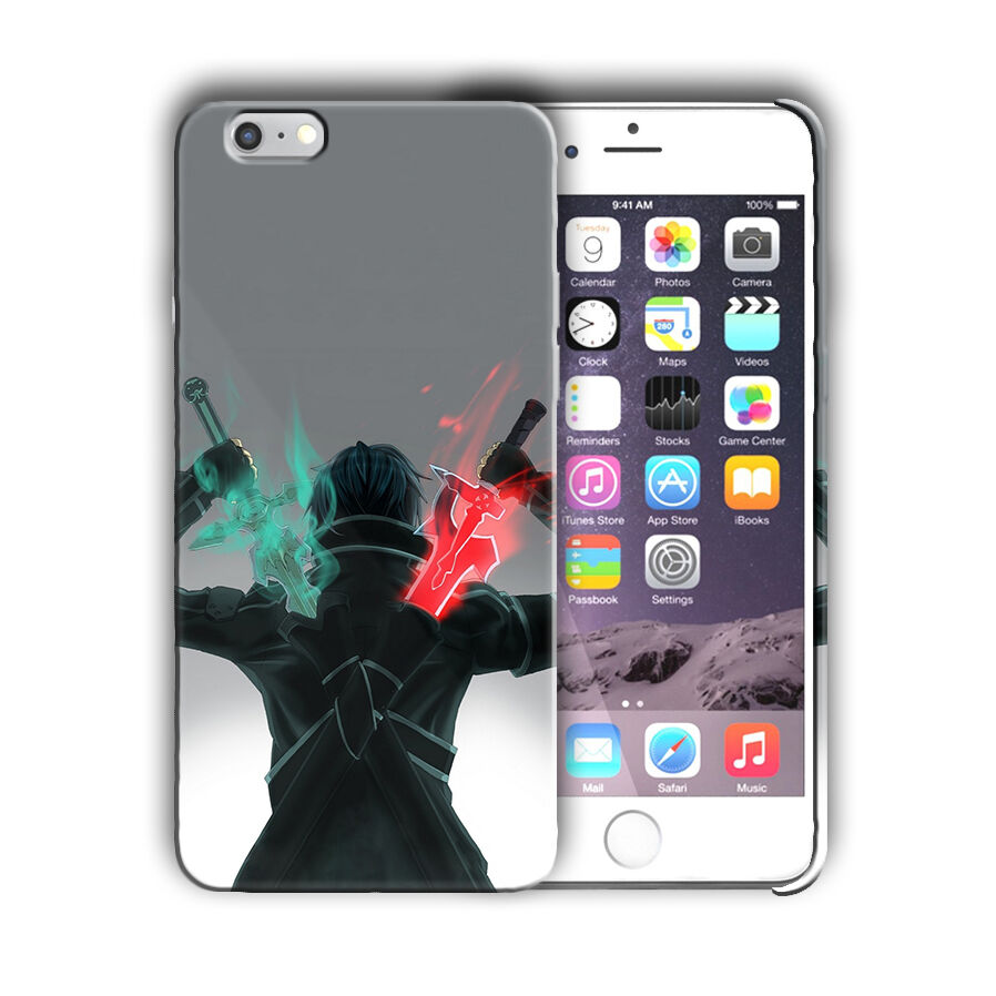 Sword Art Online Kirito Iphone 4s 5 5s 5c SE 6 6s 7 8 X XS Max XR Plus Case 02