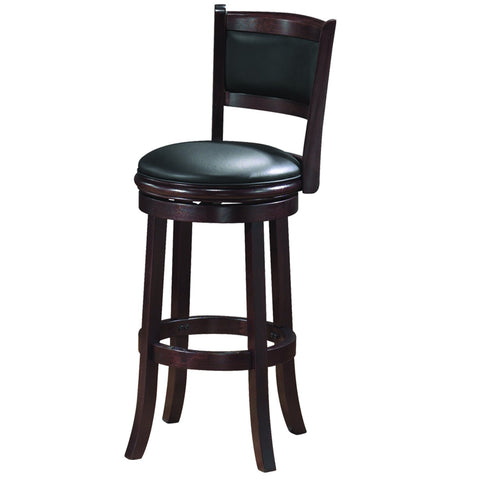 RAM Game Room Backed Barstool - Cappuccino Furniture BBSTL CAP