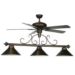 Image of RAM Game Room Billiard Light With Fan For Game Room FAN-58 WF