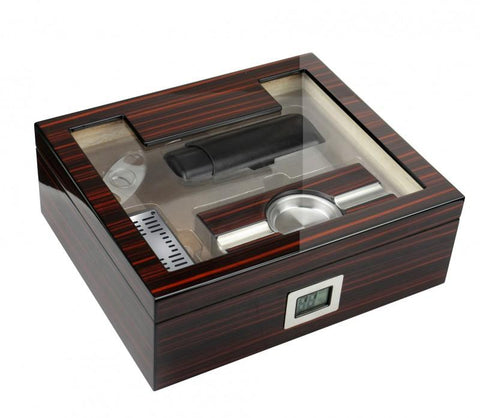 Prestige Kensington 75 Ct. Desktop Humidor Cigar Room KGTN