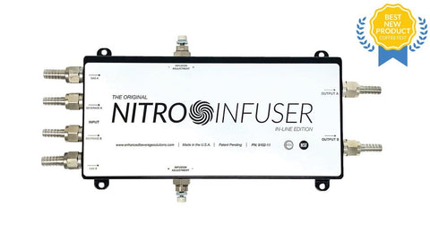 Enhanced Beverage Solutions Nitro Infuser Dual for kegerator Bar Room 9102-11