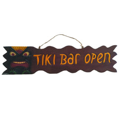 RAM Game Room Tiki Bar Open Sign Wall Decor Outdoor Decor ODR105