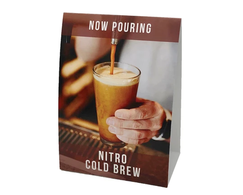 "Enhanced Beverage Solutions ""Now Pouring Nitro"" POS Kit Bar Room 090-01"