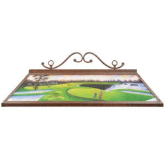 RAM Game Room Hand Painted Billiard Light For Game Room RP48 GOLF