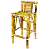 Image of RAM Game Room Set Of Two Bamboo Tiki Bar Stool Outdoor Furniture TBSTL