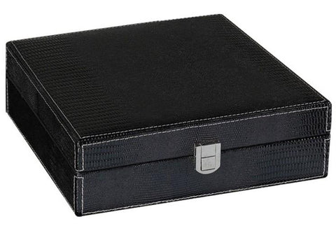 Prestige Alligator 25 Ct. Humidor Accessory Cigar Room ALG/BLK