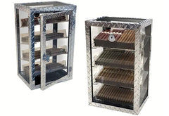 Prestige Diamond Plate 250 Count Display Humidor Cigar Room DMDPLT