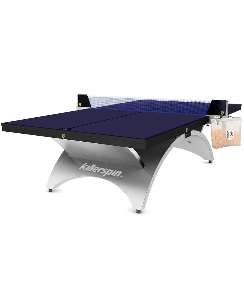 Killerspin Revolution SVR Silver1 Luxury Ping Pong Table Game Room 301-17