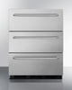 "Image of Summit Appliance 24"" Wide 3-Drawer Outdoor All-Refrigerator Compliant Bar Room SP6DSSTBOS7ADA"