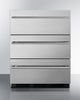"Image of Summit Appliance 24"" Wide 3-Drawer Outdoor All-Refrigerator Bar Room SP6DSSTBOS7THIN"