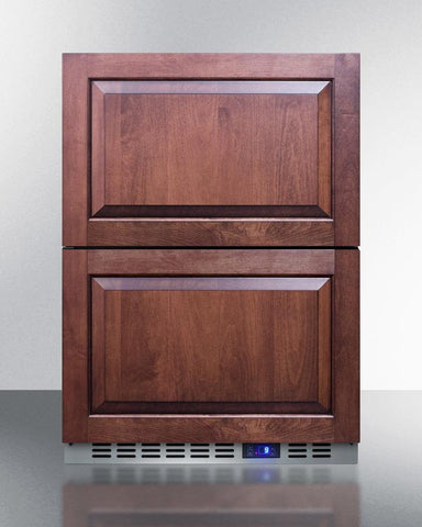 "Summit Appliance 24"" Wide Built-In 2-Drawer All-Refrigerator Bar Room FF642D"