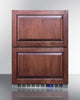 "Image of Summit Appliance 24"" Wide 2-Drawer All-Freezer Bar Room SCFF532D"