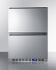 "Image of Summit Appliance 24"" Wide Built-In 2-Drawer All-Refrigerator Bar Room FF642D"