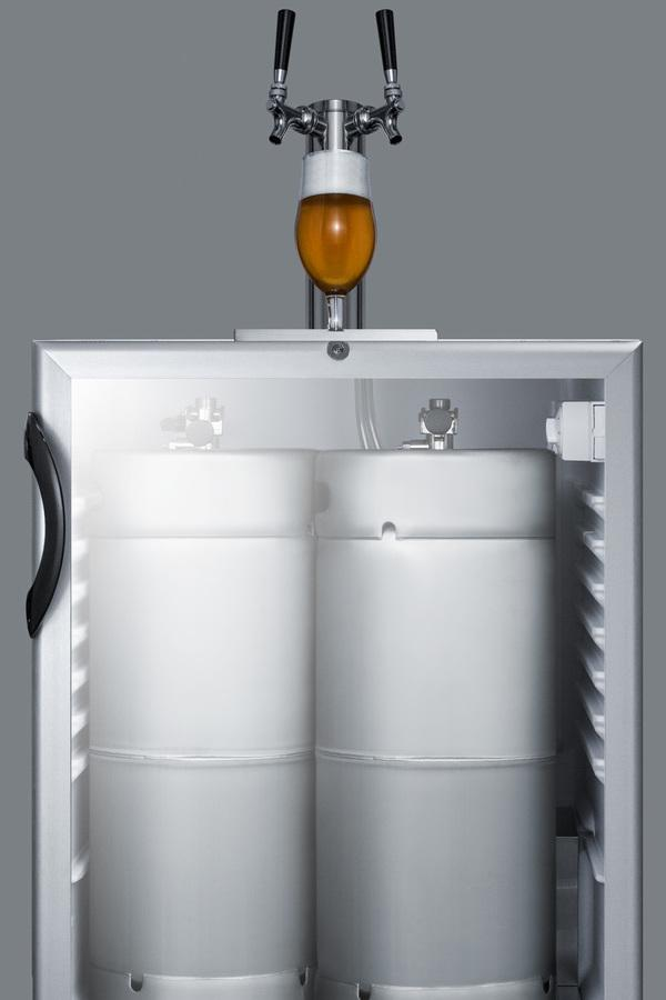 "Summit Appliance 24"" Wide Built-In Beer Dispenser Bar Room SBC56GBIADA"