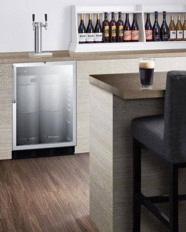 "Summit Appliance 24"" Wide Built-In Beer Dispenser Bar Room SBC56GBICSSADA"