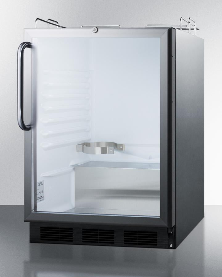 "Summit Appliance 24"" Wide Built-In Beer Dispenser Bar Room SBC56GBINKCSSADA"
