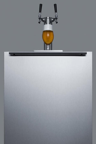 "Summit Appliance 24"" Wide Built-In Kegerator Bar Room SBC58BBIADA"