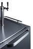 "Image of Summit Appliance 24"" Wide Built-In Outdoor Kegerator Bar Room SBC695OSTWIN"