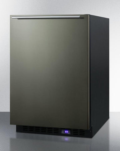 "Summit Appliance 24"" Wide Built-In All-Freezer With Icemaker Bar Room SCFF53BXKSHHIM"