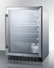 "Image of Summit Appliance 24"" Wide Single Zone Outdoor Commercial Wine Cellar Bar Room SCR611GLOSCH"