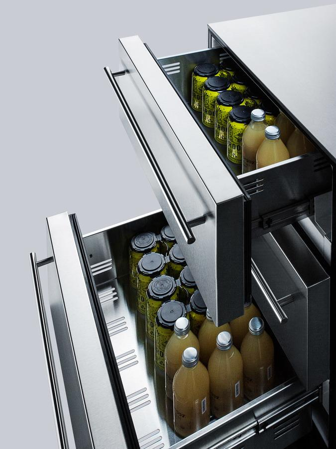 "Summit Appliance 24"" Wide 3-Drawer Outdoor All-Refrigerator Bar Room SP6DSSTBOS7THINADA"