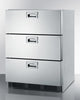 "Image of Summit Appliance 24"" Wide 3-Drawer All-Refrigerator Bar Room SP6DS7"