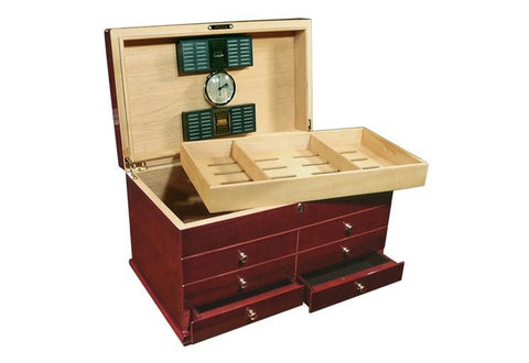 Prestige Landmark 300 Ct. Desktop & End Table Humidor Cigar Room LNDMK