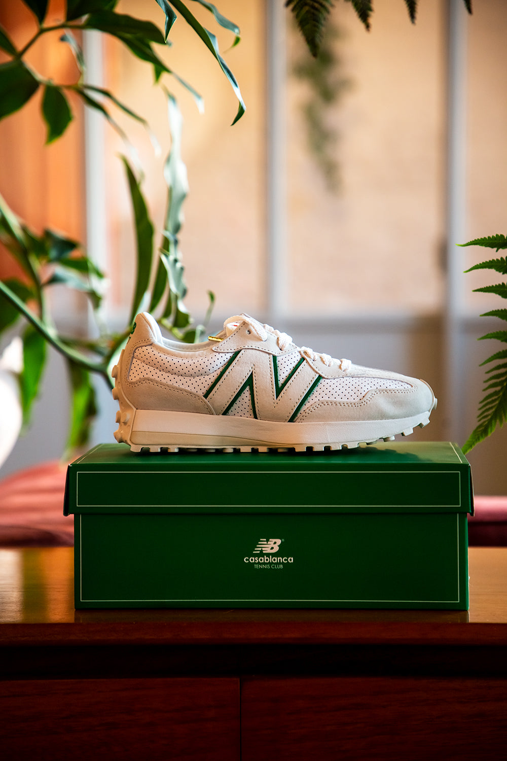 Casablanca X New Balance 327 Off White Green