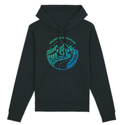 Unlimited Adventure in Blau | Unisex Hoody mit Fronttasche