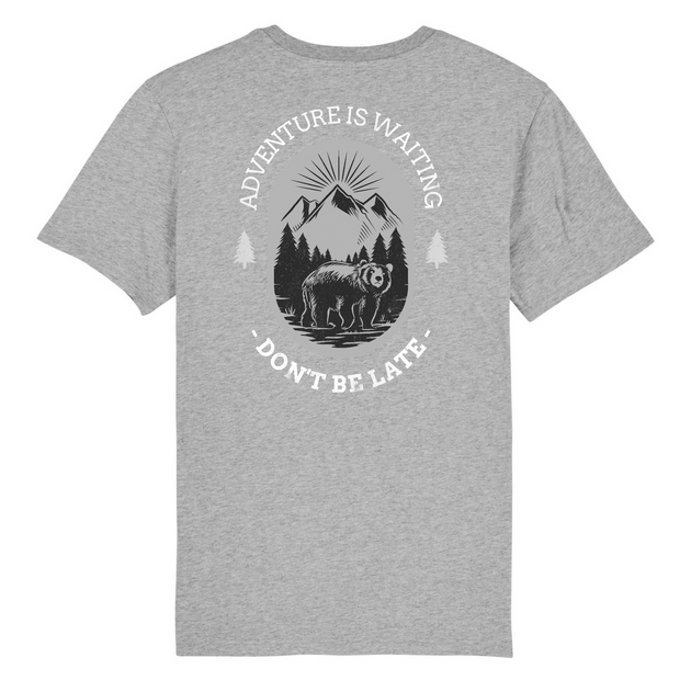 Adventure is Waiting Back Print | Unisex T-Shirt