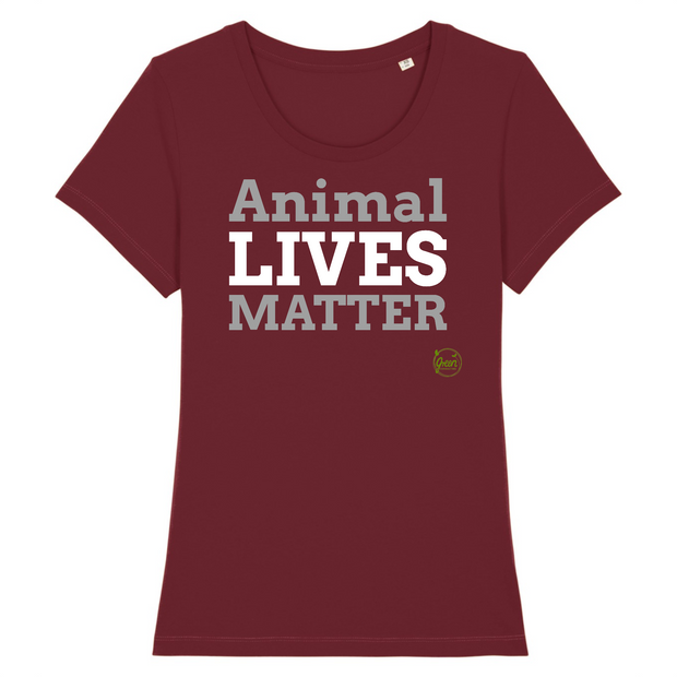 Animal Lives Matter | Damen T-Shirt Slim Fit von Green Consulting