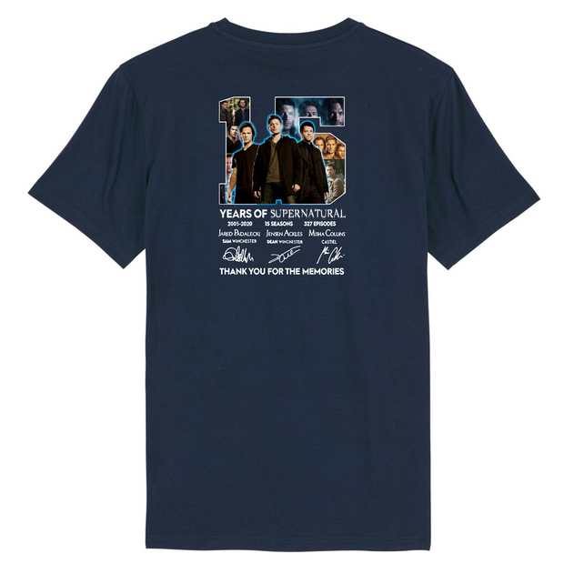 15 Jahre Supernatural Back Print | Unisex T-Shirt