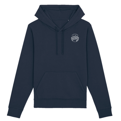 Unlimited Adventure in Weiß Pocket Print | Unisex Hoody mit Fronttasche