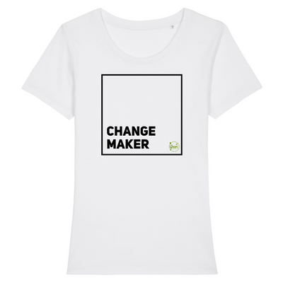 Change Maker | Damen T-Shirt Slim Fit von Green Consulting