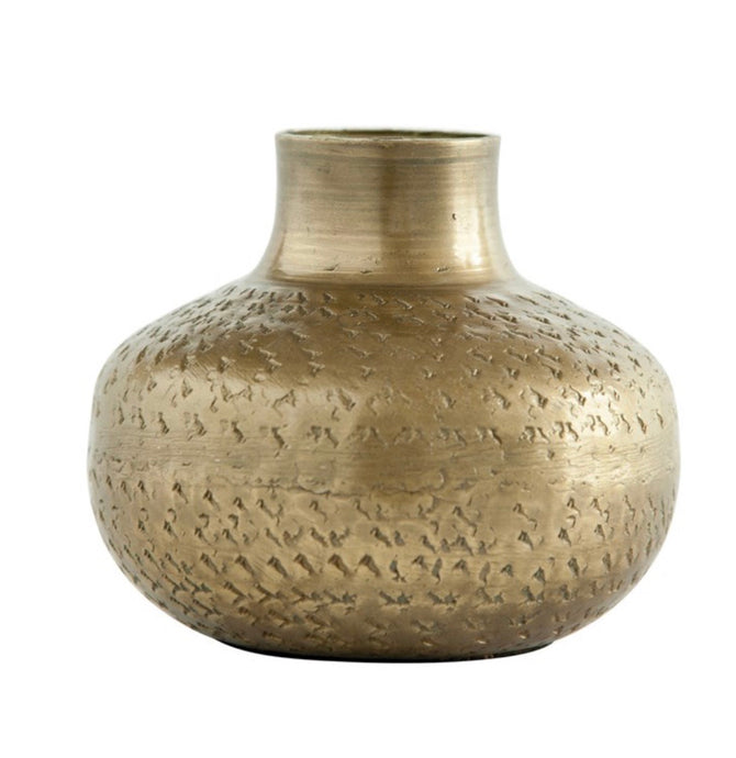 Debossed Metal Vase