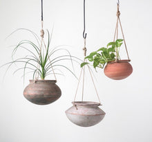 Load image into Gallery viewer, Hanging Clay Planter