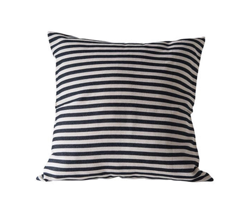 Square Woven Striped Pillow