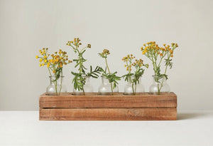 Wood Crate Vase Set