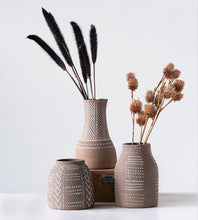 Load image into Gallery viewer, Terra Cotta Vase Set